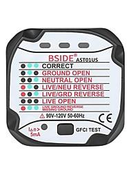 cheap -BSIDE AST01 Socket Outlet Tester Circuit Polarity Voltage Detector Wall Plug Breaker Finder - US plug
