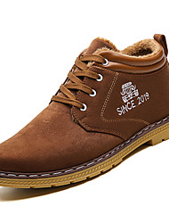 cheap -Men's Suede Shoes Suede Winter Casual Boots Warm Booties / Ankle Boots Brown / Yellow / Blue / Combat Boots
