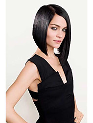 cheap -Human Hair 100% Hand Tied Lace Front Wig Bob style Brazilian Hair Straight Wig 130% 150% Density with Baby Hair Natural Hairline African American Wig 100% Hand Tied Women's Short Medium Length Human
