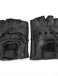 abordables -Demi-doigt Homme Gants de moto Cuir de Vachette Respirable / Antiusure / Protectif