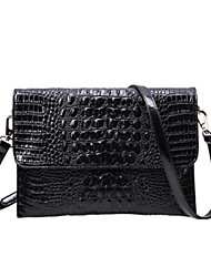 cheap -Women's Embossed Cowhide Clutch Crocodile White / Black / Red