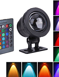 cheap -1pc 10 W 800 lm LED Beads Outdoor Lights Waterproof RGB 12 V