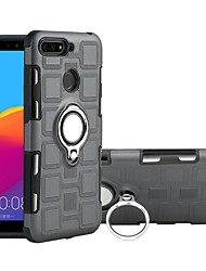cheap -Case For Huawei Huawei Honor 7C(Enjoy 8) / Huawei Y9 (2018)(Enjoy 8 Plus) / Huawei Y6 (2018) Shockproof / Ring Holder Back Cover Armor Hard PC