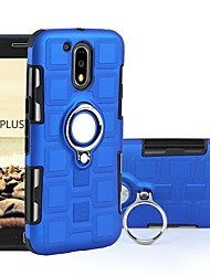 cheap -Case For Motorola Moto G4 Plus / MOTO G4 Shockproof / Ring Holder Back Cover Armor Hard PC