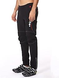 cheap -Mountainpeak Men's Cycling Pants Bike Pants / Trousers Pants Bottoms Thermal / Warm Breathable Sports Polyester Elastane Fleece Black / White / Black / Red Clothing Apparel Relaxed Fit Bike Wear