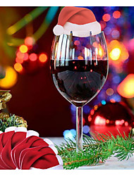 cheap -3Pcs Red Wine Glass Card On Christmas Day
