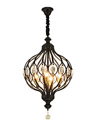 cheap -ZHISHU 4-Light 44 cm Creative Pendant Light Metal Globe Painted Finishes Artistic 110-120V / 220-240V