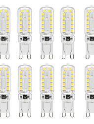 cheap -YWXLight®10PCS 6W 400-600LM 24LED 2835SMD Home Lighting Energy Saving Highlighting Dimmable High Quality PC Material G9 Peanut Light
