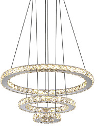 cheap -1-Light 40 cm Crystal / LED Chandelier Metal Circle Electroplated Modern Contemporary 110-120V / 220-240V