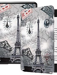 cheap -Case For Amazon Kindle PaperWhite 4 Shockproof / with Stand / Pattern Full Body Cases Butterfly / Scenery / Eiffel Tower Hard PU Leather