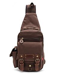 Недорогие -Муж. Молнии холст Слинг сумки на ремне Кофейный / Военно-зеленный / Хаки