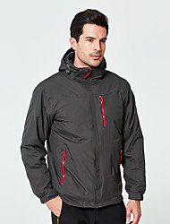 cheap -DZRZVD® Men's Waterproof Hiking Jacket Winter Outdoor Solid Color Thermal / Warm Waterproof Windproof Breathable Jacket 3-in-1 Jacket Waterproof Rain Proof Back Country Mountaineering Outdoor Dark