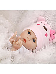 cheap -NPK DOLL Reborn Doll Baby Reborn Baby Doll 22 inch Silicone Vinyl - Newborn lifelike Cute Hand Made Child Safe Non Toxic Kid's Girls' Toy Gift / Lovely / CE Certified / Natural Skin Tone