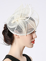 cheap -Elizabeth The Marvelous Mrs. Maisel Women's Adults' Ladies Retro Vintage Feather Net Hat Fascinator Hat Headbands Hair Clip White Black Flower Headwear Lolita Accessories