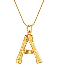 cheap -Women's Pendant Necklace Name Alphabet Shape Ladies Fashion Alloy Gold Silver 55 cm Necklace Jewelry 1pc For Gift Daily