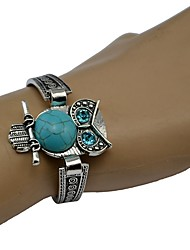 cheap -Women's Turquoise Bracelet Bangles Retro Owl Ladies Bohemian Ethnic western style Alloy Bracelet Jewelry Silver For Daily