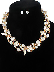 cheap -Freshwater Pearl Jewelry Set Pearl Crystal For Women's Irregular shape Trendy Special Fashion Vacation Birthday Party High Quality Mixed Color Joy 1 set