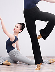 cheap -Women's High Rise Wide Leg Yoga Pants Solid Color Elastane Zumba Dance Fitness Bottoms Activewear Breathable Moisture Wicking Quick Dry Soft Stretchy Loose