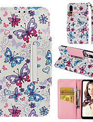 cheap -Case For Huawei Huawei P20 Pro Wallet / Card Holder / Flip Back Cover Butterfly Hard PU Leather