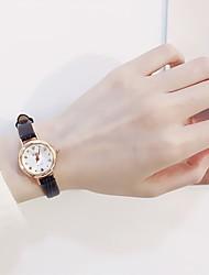 cheap -Women's Dress Watch Quartz Genuine Leather Black / White / Khaki Casual Watch Adorable Analog Ladies Fashion Elegant - White Black Coffee