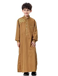 cheap -Kids Boys' Vintage Basic Party Daily Solid Colored Long Sleeve Long Suit & Blazer Camel