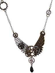 cheap -Plague Doctor Steampunk Clockwork Necklace Men's Women's Costume Sticky Rhinestones Golden Vintage Cosplay