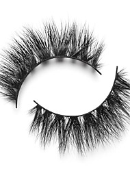 cheap -Eyelash Extensions 2 pcs Handmade 3D Thick Natural Soft Beauty Animal wool eyelash Party Birthday Daily Wear Full Strip Lashes Natural Long - Makeup Daily Makeup High Quality Modern Cosmetic Grooming