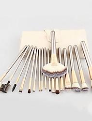 cheap -Professional Makeup Brushes 18pcs Full Coverage Wooden / Bamboo for Blush Brush Foundation Brush Makeup Brush Lip Brush Eyebrow Brush Eyeshadow Brush