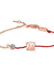 cheap -Bracelet Good Luck Bracelet Metal Alloy Rhinestone For Women's Line Shape Traditional / Vintage Good Luck New Year's Daily Festival High Quality Mixed Color red rope chain Lucky Wish Bracelet 1pc