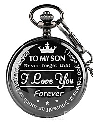 cheap -Men's Pocket Watch Necklace Watch Quartz Classic Style Casual Casual Watch Cool Analog Black