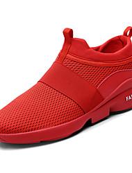 رخيصةأون -رجالي أحذية الراحة شبكة الربيع كاجوال أحذية رياضية المشي متنفس أسود / أبيض / أحمر