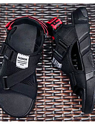 cheap -Men's Comfort Shoes Mesh Summer Sandals Black and White / Black / Red / Black / Yellow / Outdoor