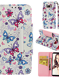 cheap -Case For Samsung Galaxy S8 Wallet / Card Holder / Flip Full Body Cases Butterfly Hard PU Leather