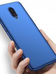 olcso -Case Kompatibilitás OnePlus OnePlus 6 / One Plus 6T / One Plus 5 Jeges Fekete tok Egyszínű Kemény PC