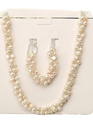 cheap -Freshwater Pearl Jewelry Set Pearl For Women's Irregular shape Glam Elegant Fashion Event / Party Gift High Quality Modern Style Blessed 1 set