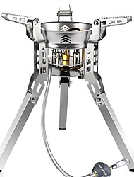 cheap -Camping Gas Stove 19*18 L Single One-piece Suit Back Country Mountaineering Case Included Travel Stainless Steel Aluminium for 3 - 4 person Outdoor Hiking Silver