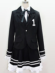 cheap -Inspired by Vocaloid Cosplay Anime Cosplay Costumes Japanese Cosplay Suits British Black & White Cravat Top Skirt For Men's Women's / More Accessories / More Accessories