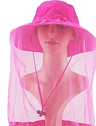 cheap -Jungle King Sun Hat Hiking Cap Mosquito Head Net Hat Hat Sunscreen UV Resistant Quick Dry Breathability Nylon Autumn / Fall Spring Summer for Men's Women's Outdoor Exercise Army Green Fuchsia Grey