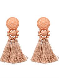 cheap -Women's Drop Earrings Tassel Earrings Jewelry White / Light Pink / Beige / White For Gift Evening Party 1 Pair