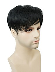 cheap -Unisex Synthetic Hair Toupees Straight Machine Made Synthetic