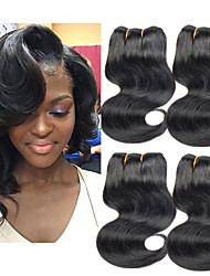 cheap -4 Bundles Brazilian Hair Body Wave Remy Human Hair Human Hair Extensions 8-24 inch Human Hair Weaves Fashionable Design Soft Best Quality Human Hair Extensions