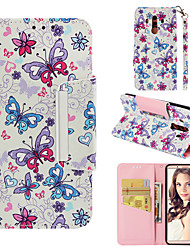 cheap -Case For Huawei Mate 10 pro Wallet / Card Holder / Flip Back Cover Butterfly Hard PU Leather