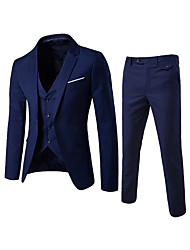 cheap -Men's Notch lapel collar Suits Regular Solid Colored Daily Going out Work Streetwear Black / Blue / Purple US32 / UK32 / EU40 / US34 / UK34 / EU42 / US36 / UK36 / EU44 / Business Formal / Slim
