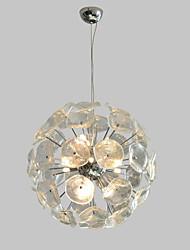 Недорогие -QIHengZhaoMing 9-Light 55 cm Подвесные лампы Металл Стекло Электропокрытие Традиционный / классический 110-120Вольт / 220-240Вольт