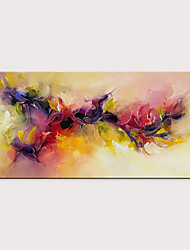 cheap -Oil Painting Hand Painted Abstract Floral / Botanical Modern Rolled Canvas Rolled Without Frame