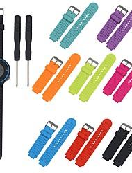 cheap -Watch Band for Garmin Forerunner 25 Garmin Classic Buckle / DIY Tools Silicone Wrist Strap