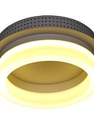 cheap -1-Light 22cm LED Flush Mount Lights Metal Glass Others Modern Contemporary 110-120V / 220-240V