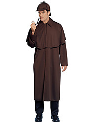 cheap -Sherlock Holmes Coat Movie Cosplay Coffee Coat Christmas Halloween New Year Polyster