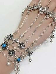 cheap -Women's Ring Bracelet / Slave bracelet Classic Ladies Bohemian Ethnic Alloy Bracelet Jewelry Silver For Bikini Cosplay Costumes