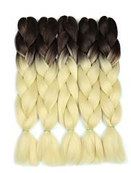 "cheap -Braiding Hair Curly Twist Braids Jumbo Dreadlocks / Faux Locs Synthetic Hair 5 Pieces Hair Braids Blonde 24 inch 23 1/2""60 cm Synthetic Color Gradient Hot Sale Christmas Dailywear Daily Wear African"
